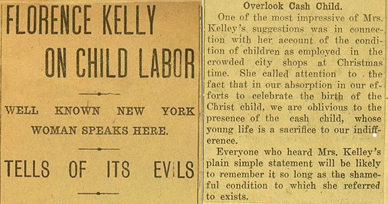 florence kelley child labor speech essay Read this history other essay and over 88,000 other research documents florence kelley speech essay in a speech by florence kelley, she claims that child labor laws are not strict enough.